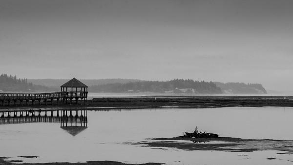 High tide at Nisqually National Wildlife Refuge, Washington